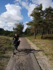 ścieżka rowerowa na Mierzei Kurońskiej
