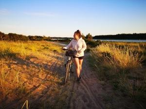zachód słońca w parku Vilsandi w Estonii