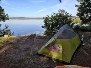 poranek nad jeziorem Wigry