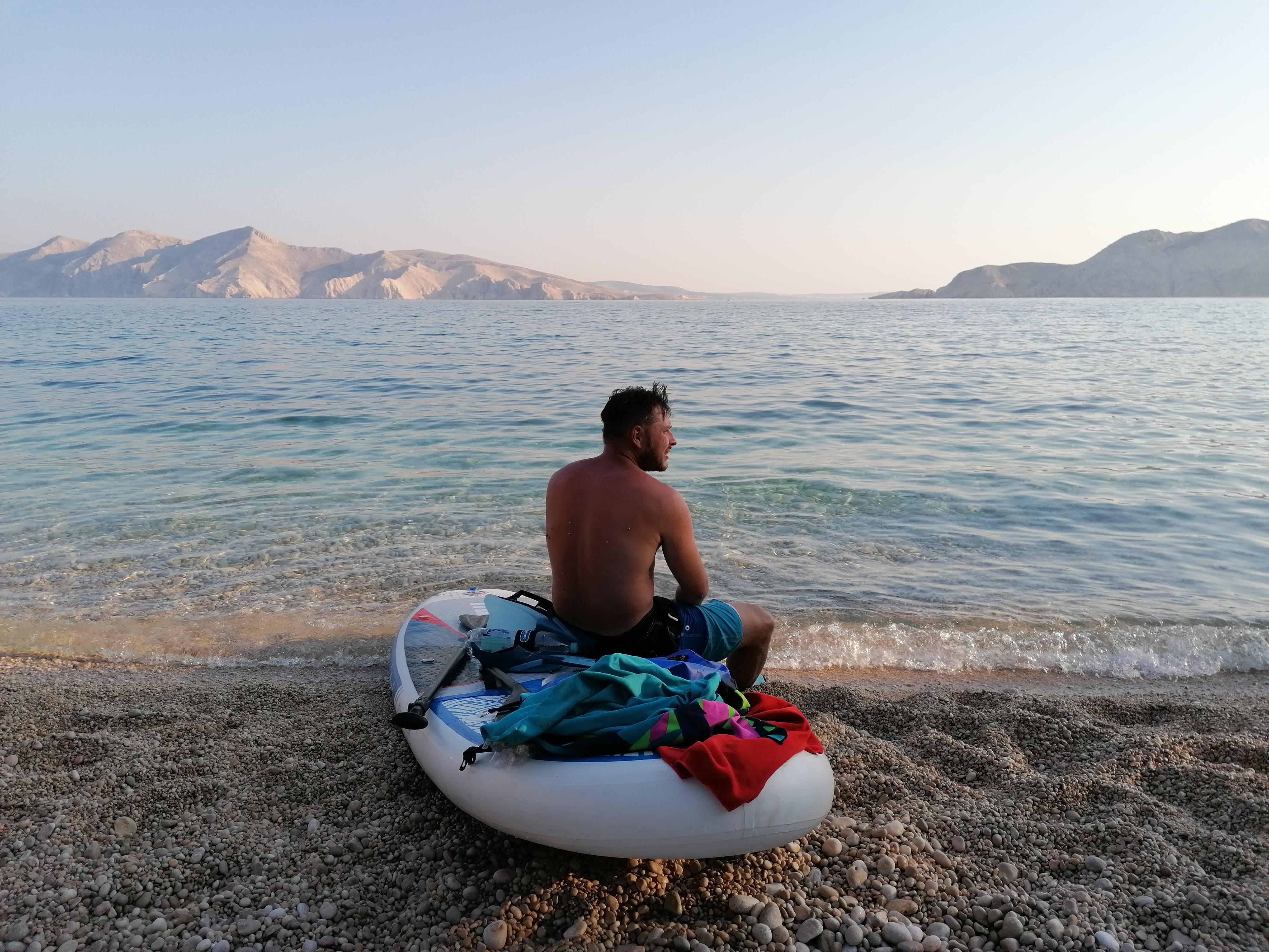 SUPing po zatoce przy Basce