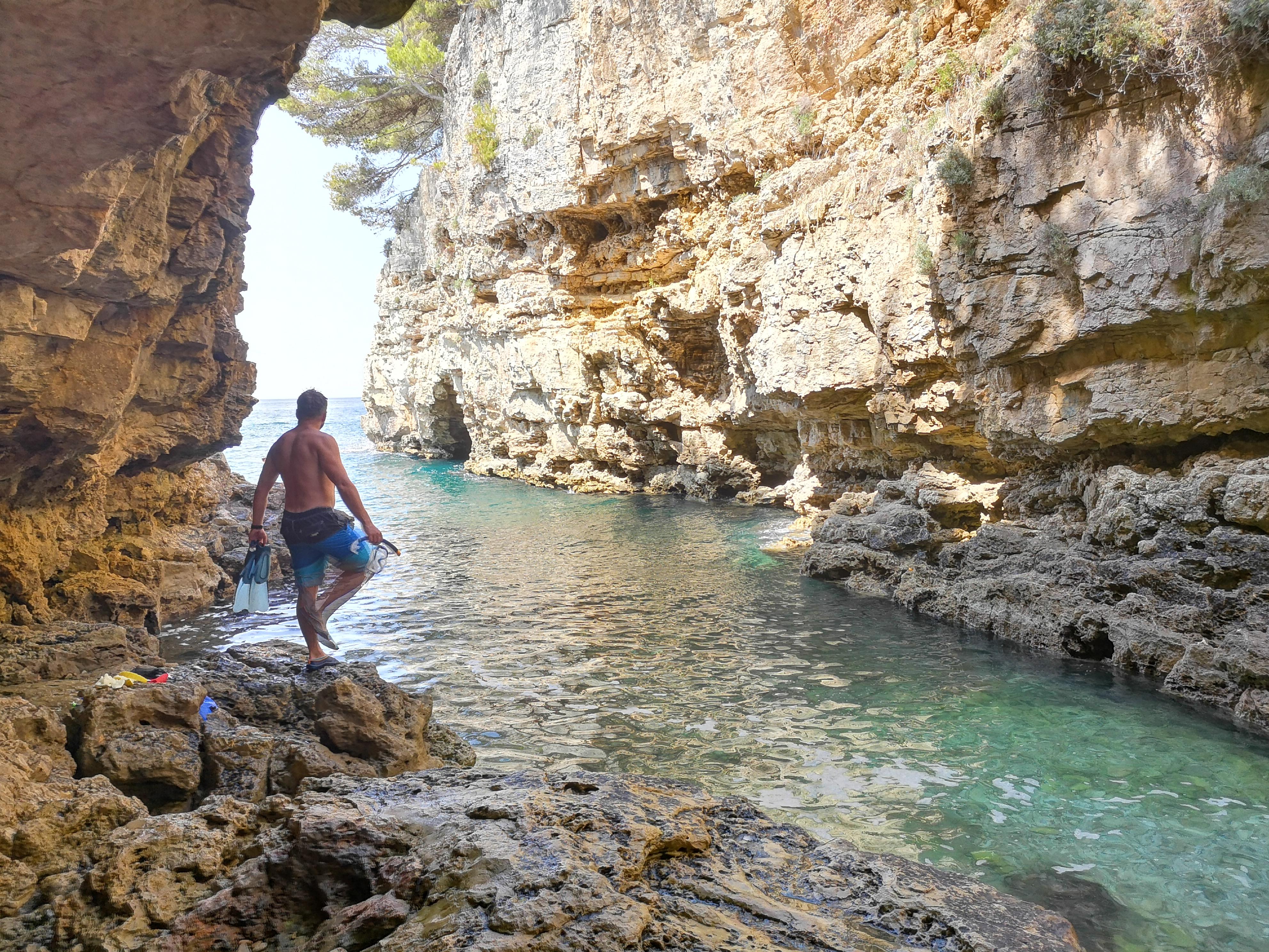 kanion Velureda obok Puli - świetne miejsce na nurkowanie