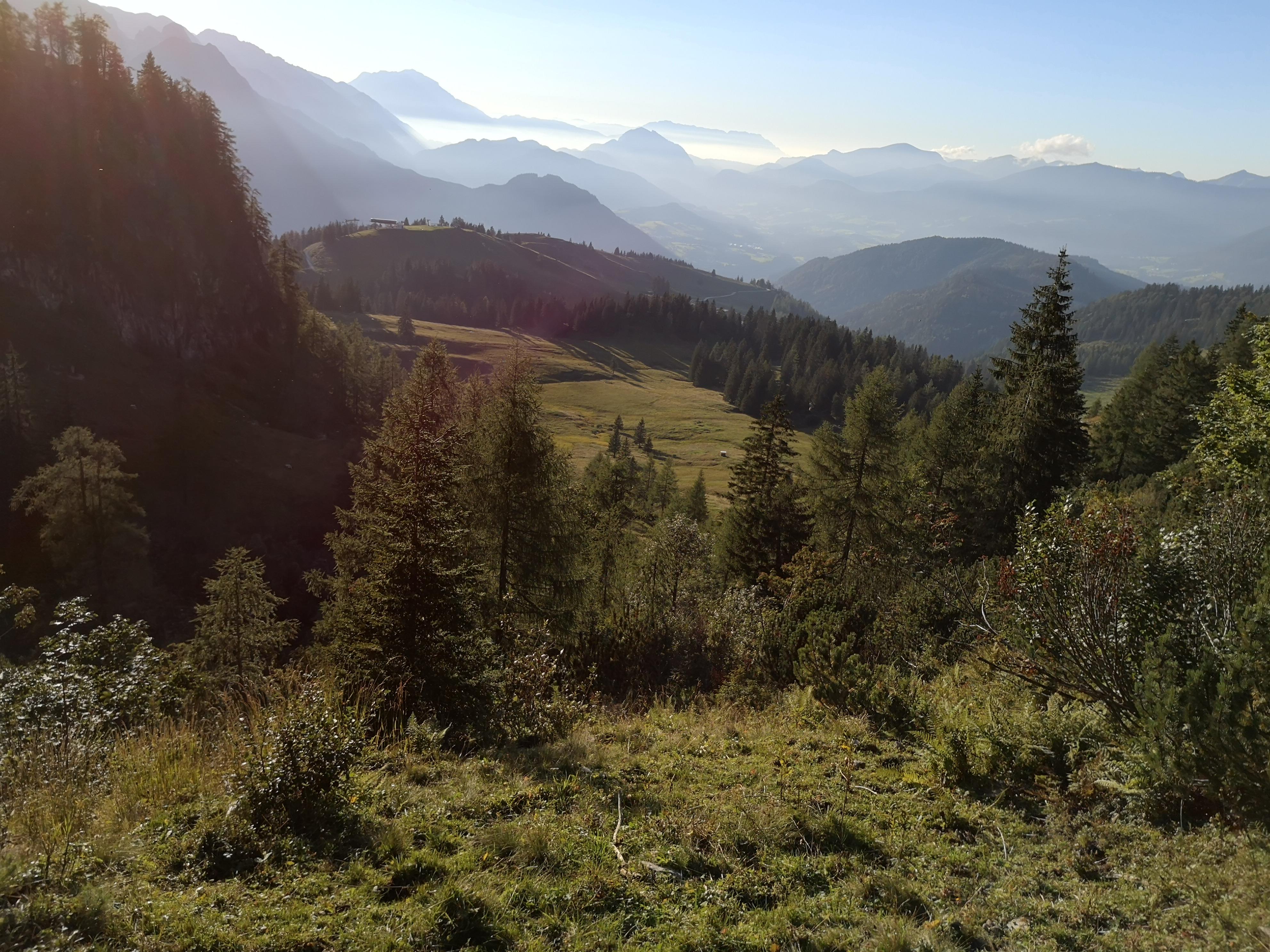 wieczór w górach Dachstein