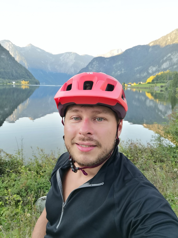 na trasie nad jeziorem Hallstatt