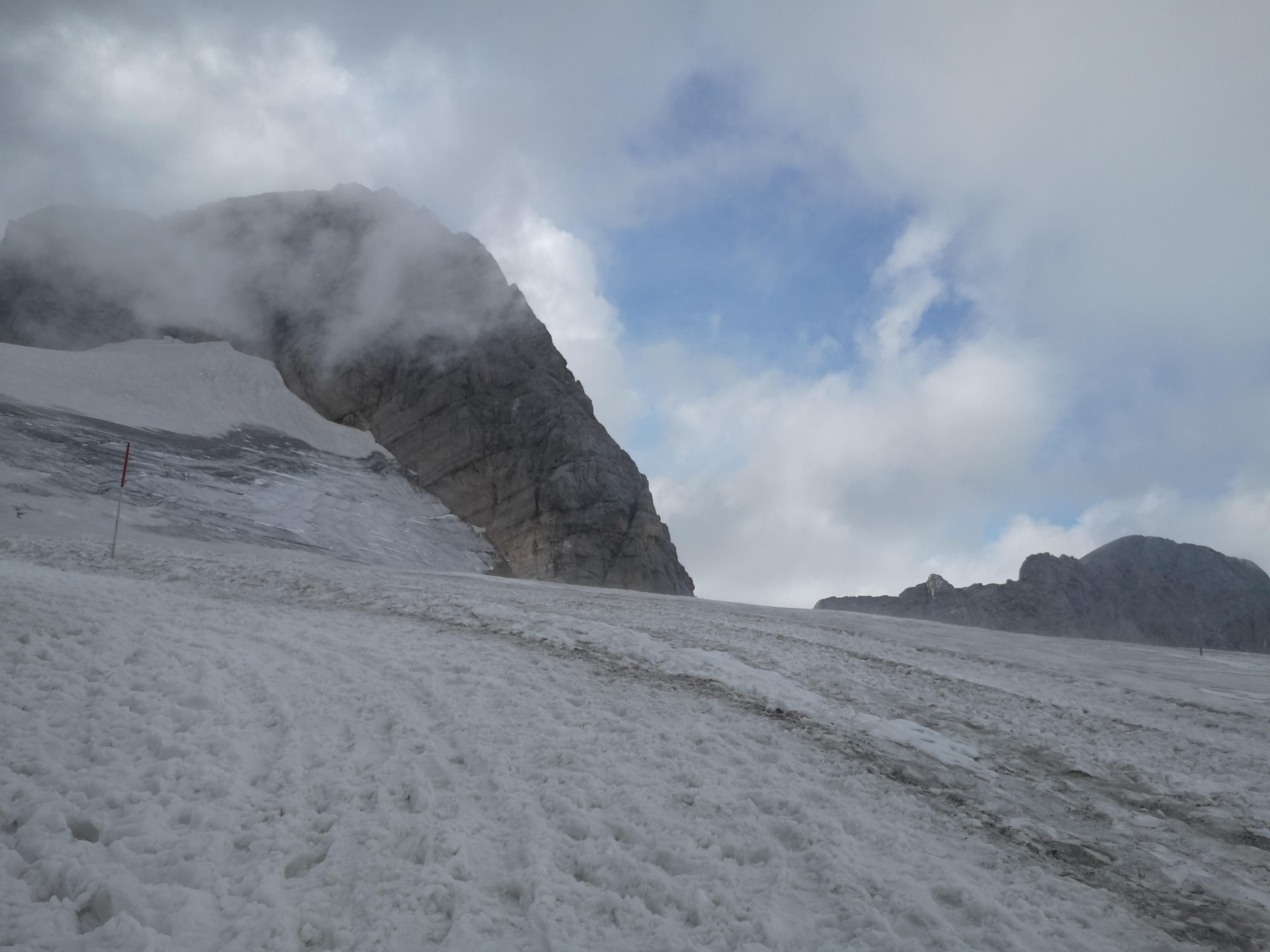 lodowiec Dachstein, po ukończeniu ferraty der Johann