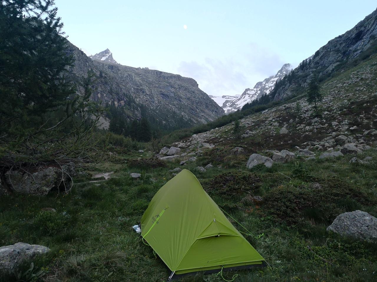 odpoczynek w dolinie Valsavarenche po zdobyciu Gran Paradiso