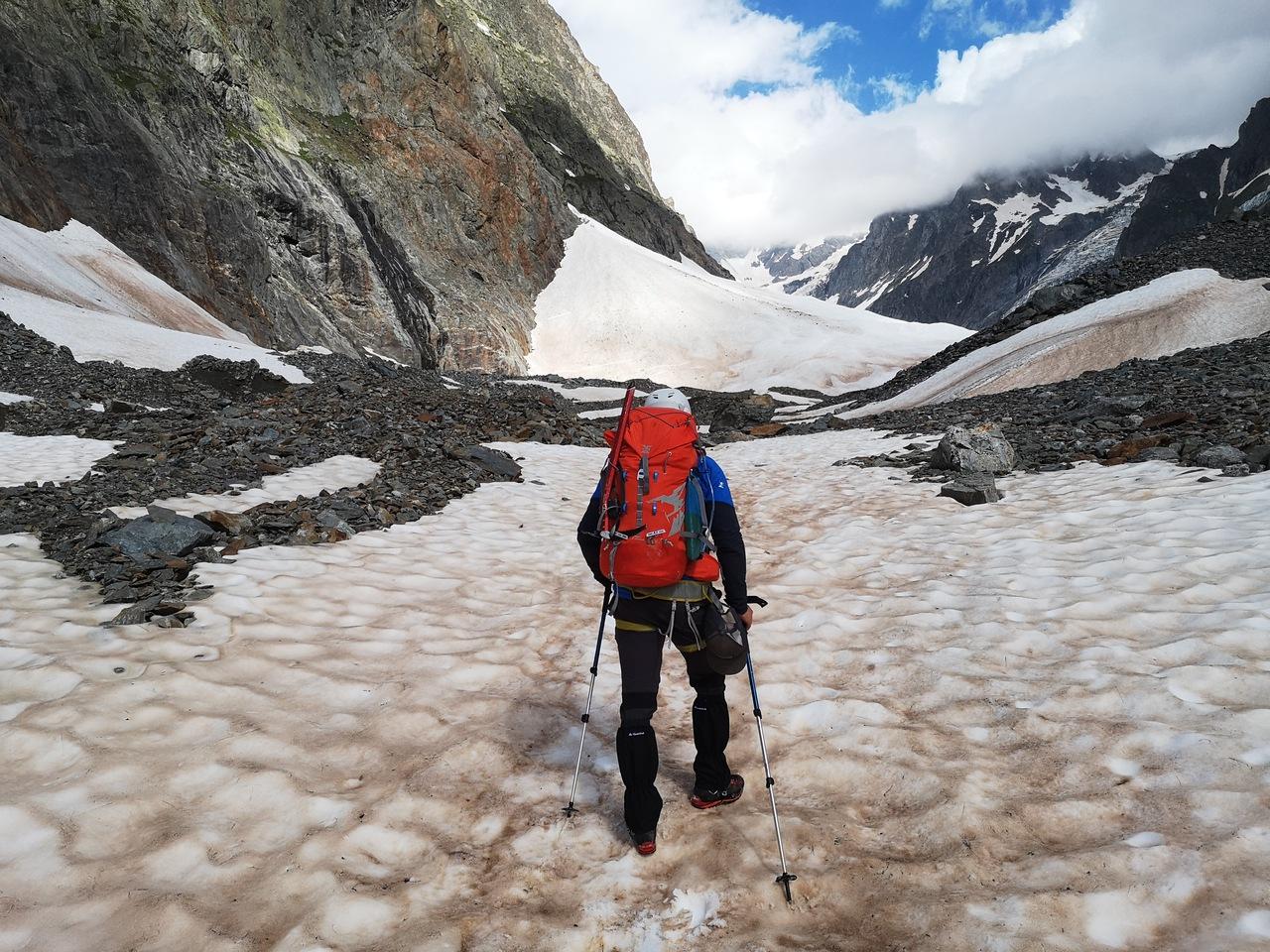 pierwsze kroki na lodowcu Miage