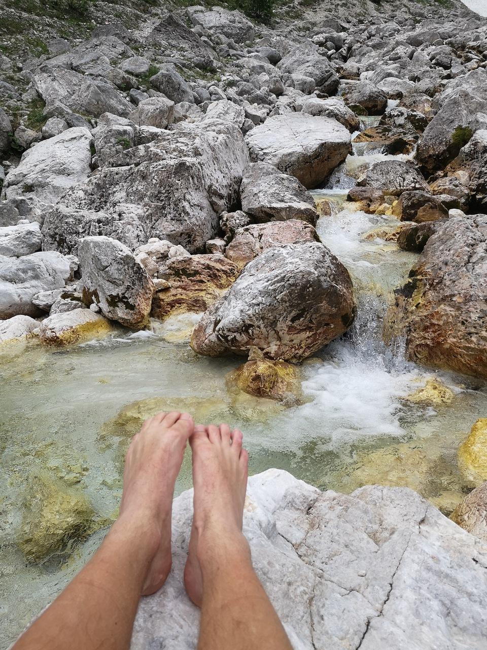 mycie stópek po Triglavie
