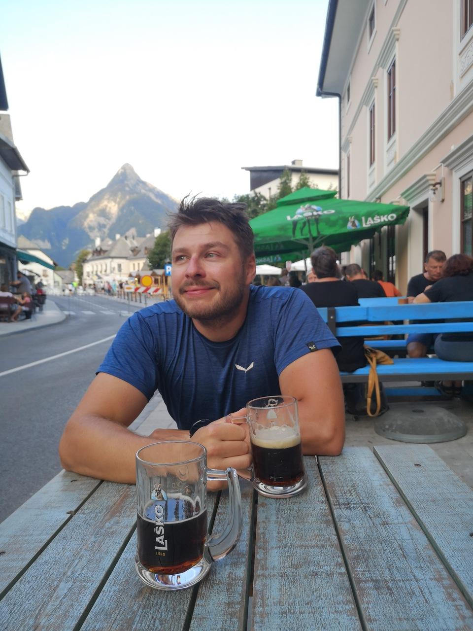 starówka w Bovec, ostatnie piwko